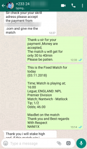 Fixed Match