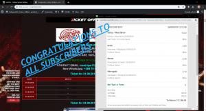 VIP Ticket BET365 proof